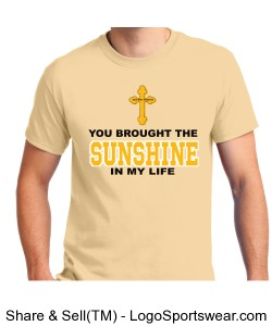 You Brought The Sunshine Adult S/S T-Shirt Design Zoom